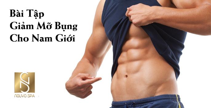 Các bài tập giảm mỡ bụng cho nam hiệu quả