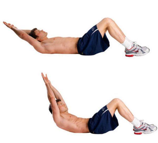 Bài tập nâng tay dài (The long-arm crunch)