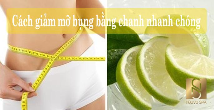 Cách giảm mỡ bụng bằng chanh nhanh chóng