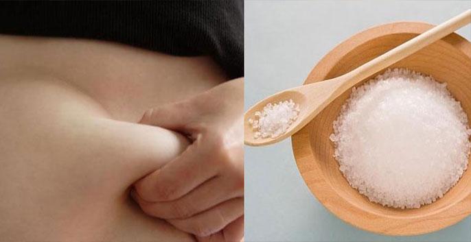 cách giảm mỡ bụng tự nhiên tại nhà thì dùng muối là phương pháp hiệu quả mà bạn không nên bỏ qua