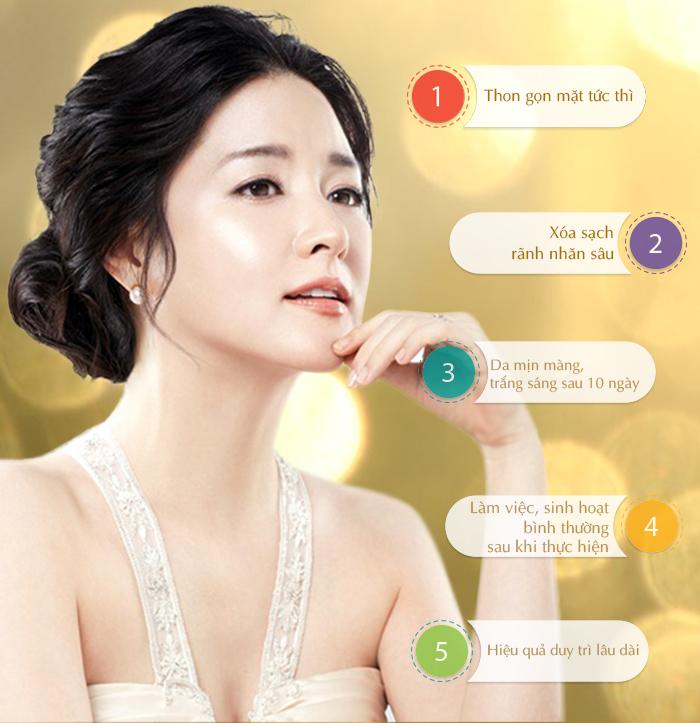 Căng da nâng cơ bằng chỉ sinh học theo công nghệ Hàn Quốc