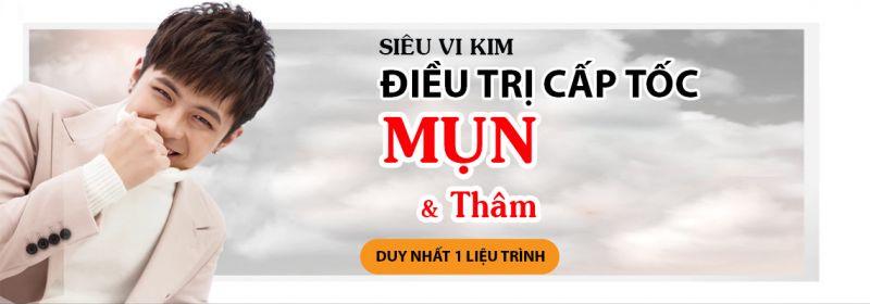 Điều trị mụn thâm & Se khít lỗ chân lông bằng Siêu Vi Kim tại TPHCM
