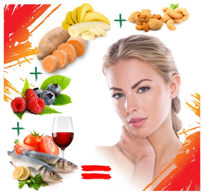 Chế độ dinh dưỡng giúp da phục hồi sau khi nặn mụn