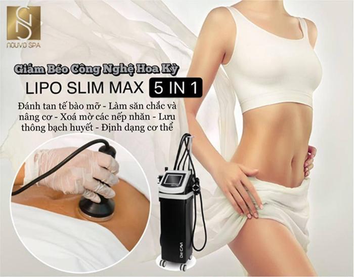 Định dạng cơ thể với công nghệ Lipo Slim Max tiên tiến